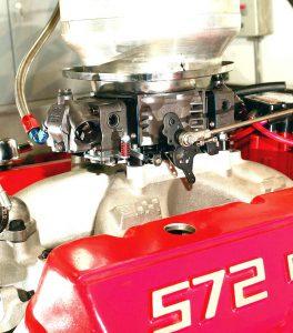 Black finish 950 HP Ultra Holley carburetor.
