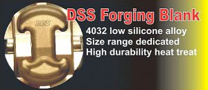 DSS Piston Forging Blank low silicone alloy